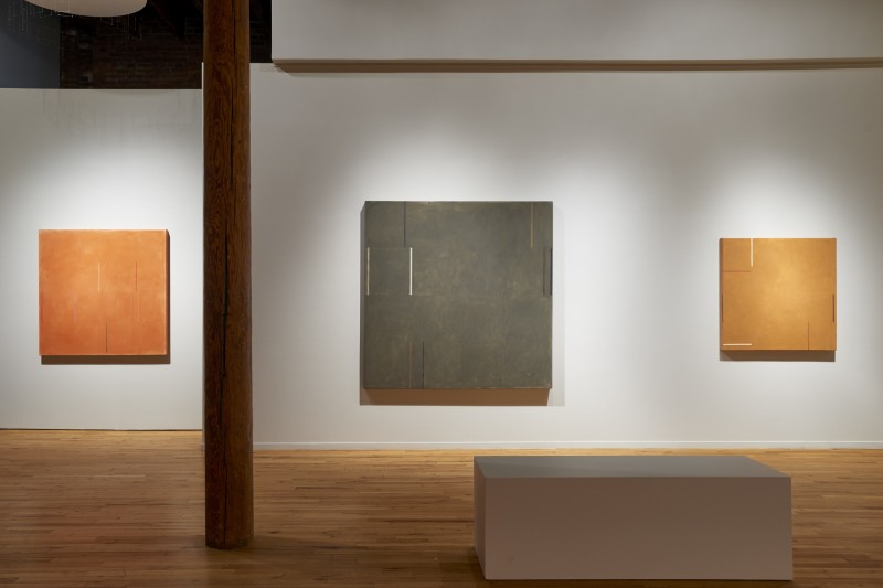 "Installation view of ""César Paternosto, Rhythm of the Line"" at Cecilia de Torres, Ltd., New York - César Paternosto, Cecilia De Torres Ltd."