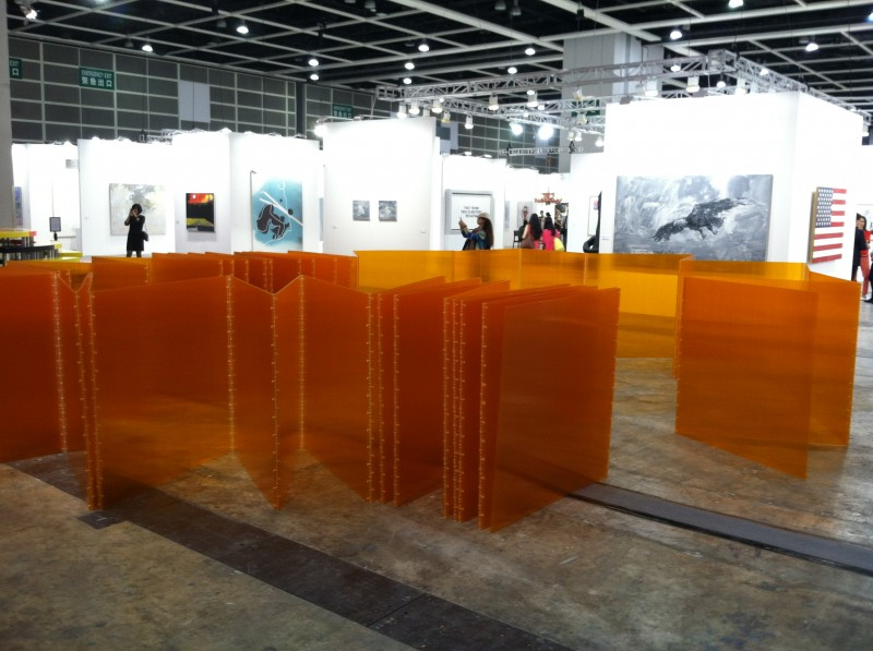 Installation view of Cube 48 Orange at Art Basel Hong Kong - Marta Chilindron, Cecilia De Torres Ltd.