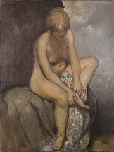 Nude on white throw - Horacio Torres, Cecilia De Torres Ltd.