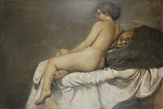 Reclining nude on white throw - Horacio Torres, Cecilia De Torres Ltd.