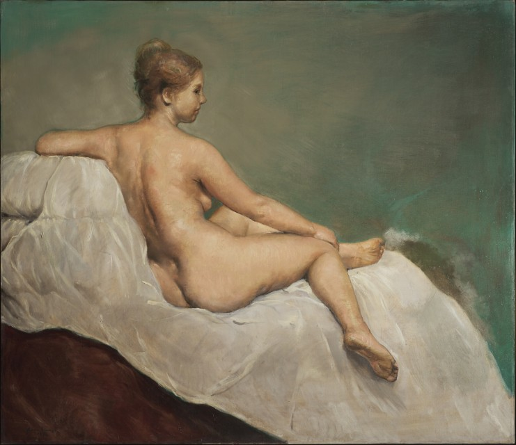 Seated Nude on Green - Horacio Torres, Cecilia De Torres Ltd.