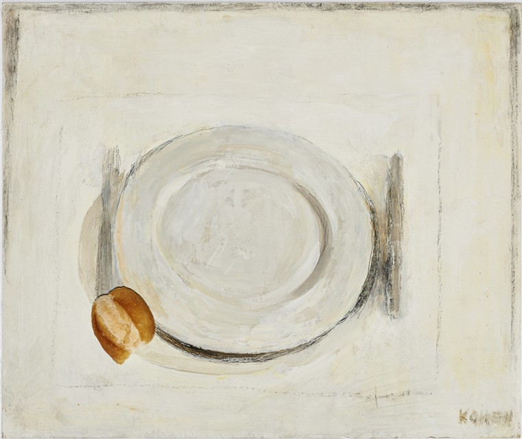 Plato y Pan (Plate and bread) - Linda Kohen, Cecilia de Torres, Ltd.