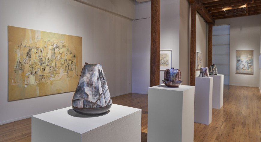 "Installation view of ""The City as Muse: Works by Lidya Buzio and Sarah Grilo,"" at Cecilia de Torres, Ltd., New York - , Cecilia de Torres, Ltd."