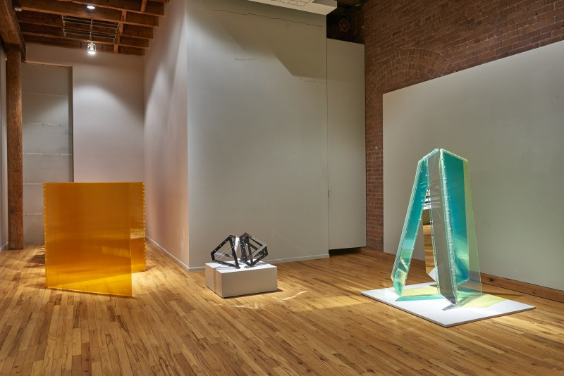 "Installation view of ""Geometry at Play. Sculpture by Marta Chilindron"" at Cecilia de Torres, Ltd., New York, Cecilia De Torres Ltd."
