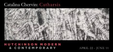 Invitation of exhibition titled Catalina Chervin: Catharsis