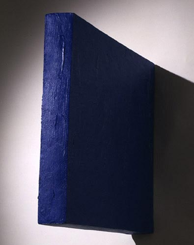 Blue Medium Rectangle Painting - Eduardo Costa, Cecilia De Torres Ltd.