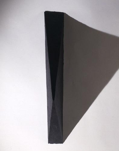 Black Medium Triangle Painting - , Cecilia de Torres, Ltd.