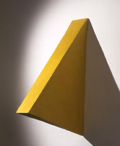 Yellow Medium Triangle Painting - , Cecilia de Torres, Ltd.